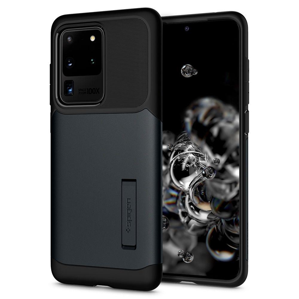 Spigen Θήκη Slim Armor Samsung Galaxy S20 Ultra - Metal Slate (ACS00637)