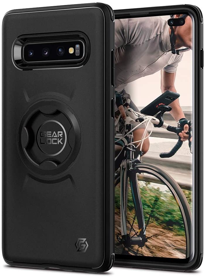 Spigen Gearlock Bike Mount Case CF203 - Θήκη Samsung S10 Plus Συμβατή με Βάσεις Bike Mount (606CS26040)