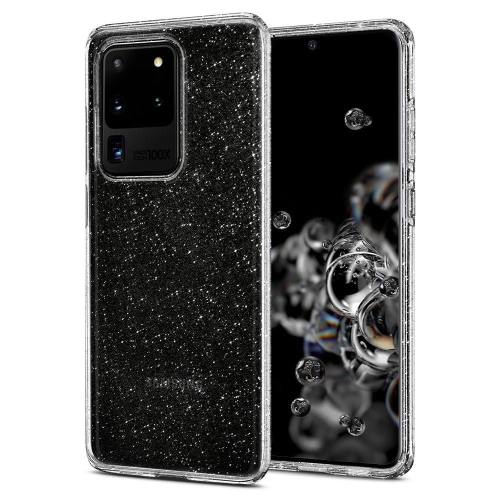 Spigen Θήκη Σιλικόνης Liquid Crystal Glitter Samsung Galaxy S20 Plus - Cystal Quartz (ACS00710)