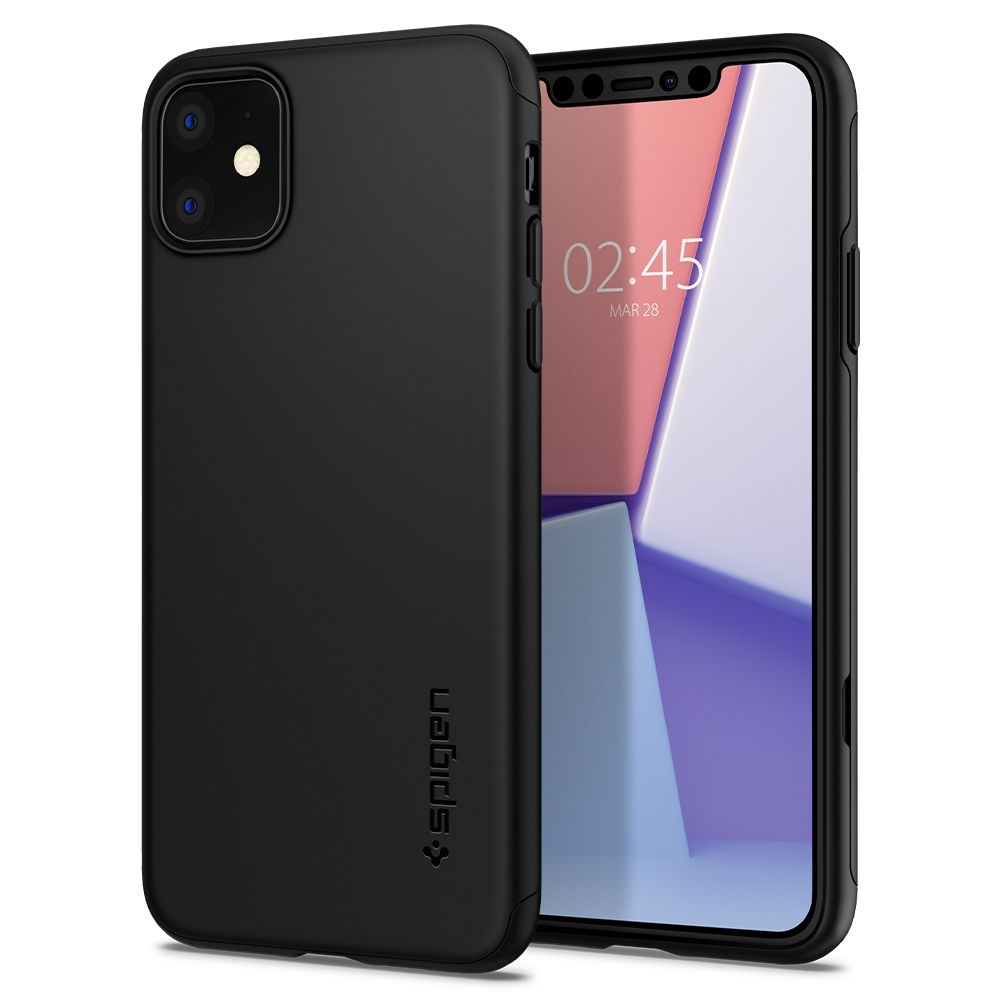 Spigen Θήκη Thin Fit Classic iPhone 11 - Black (076CS27442)