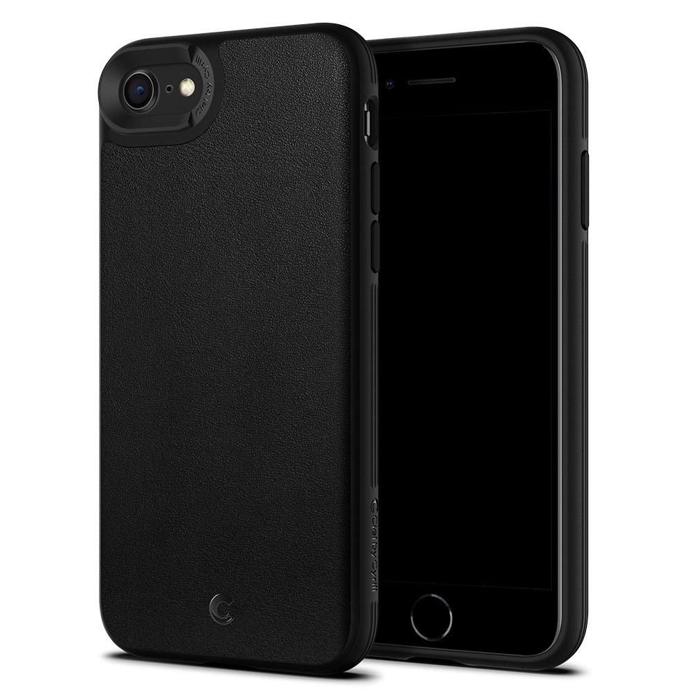 Spigen Θήκη Ciel Leather Brick iPhone SE 2020 / 7 / 8 - Black (ACS00962)