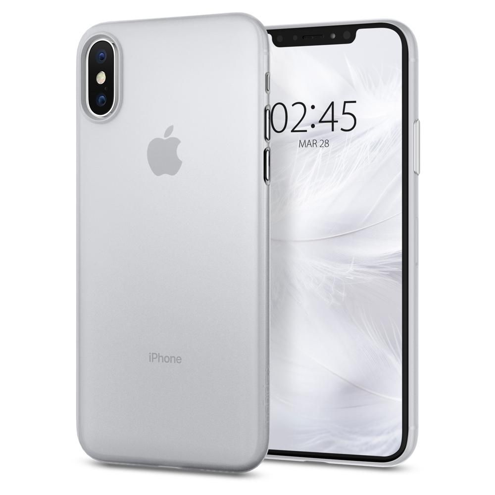 Spigen Θήκη Air Skin iPhone XS/X - Soft Clear (063CS24909)