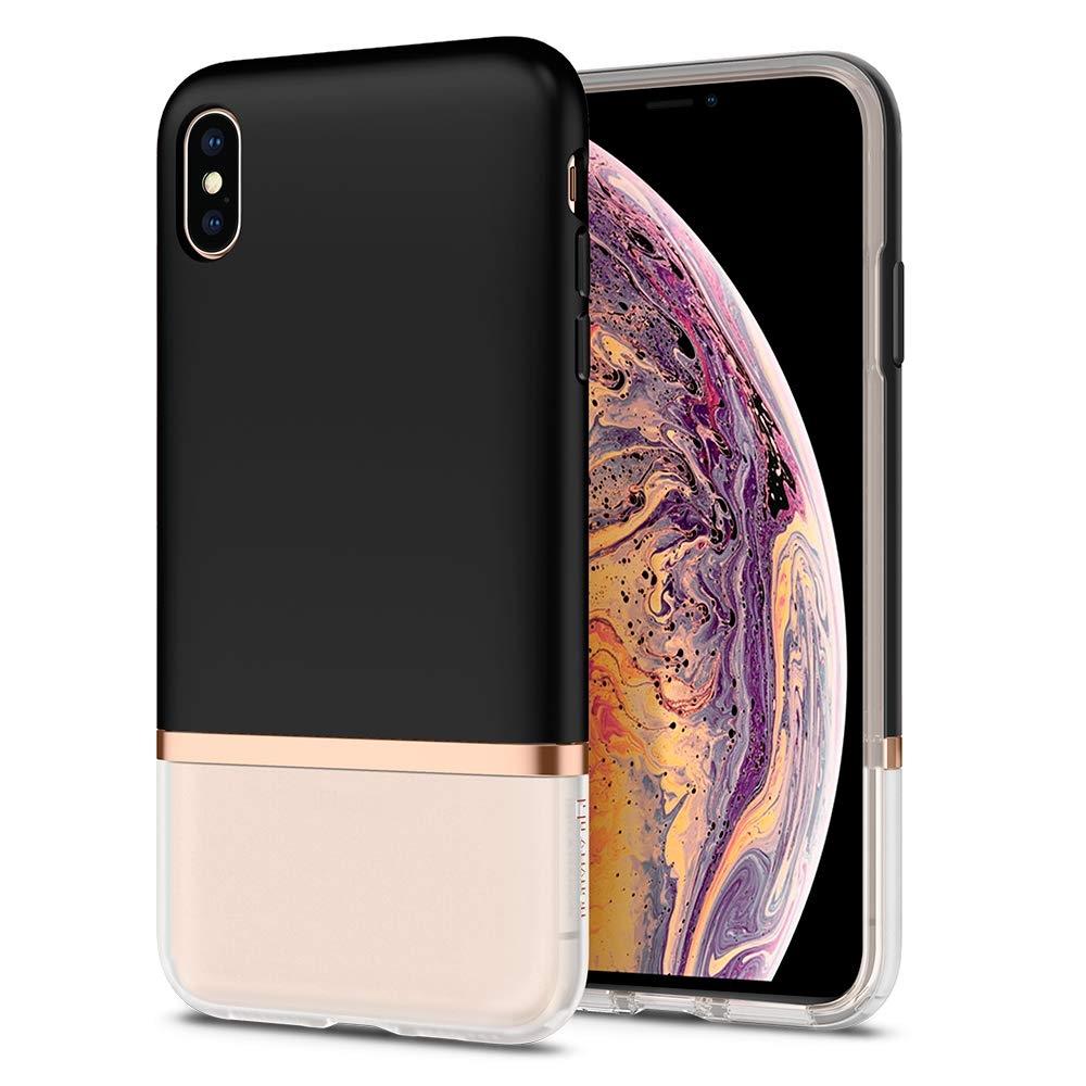 Spigen Θήκη La Manon Jupe iPhone XS Max - Milk Black (065CS25370)