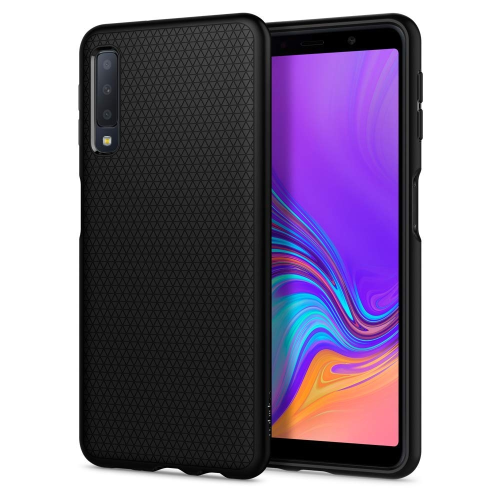 Spigen Θήκη Liquid Air Samsung Galaxy A7 2018 - Black (608CS25555)