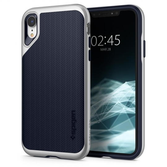 Spigen Θήκη Neo Hybrid iPhone XR - Satin Silver (064CS24880)