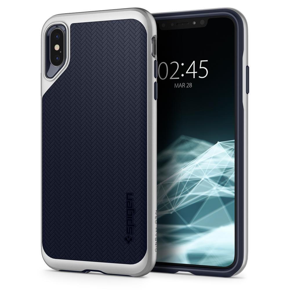 Spigen Θήκη Neo Hybrid iPhone XS Max - Satin Silver (065CS24840)