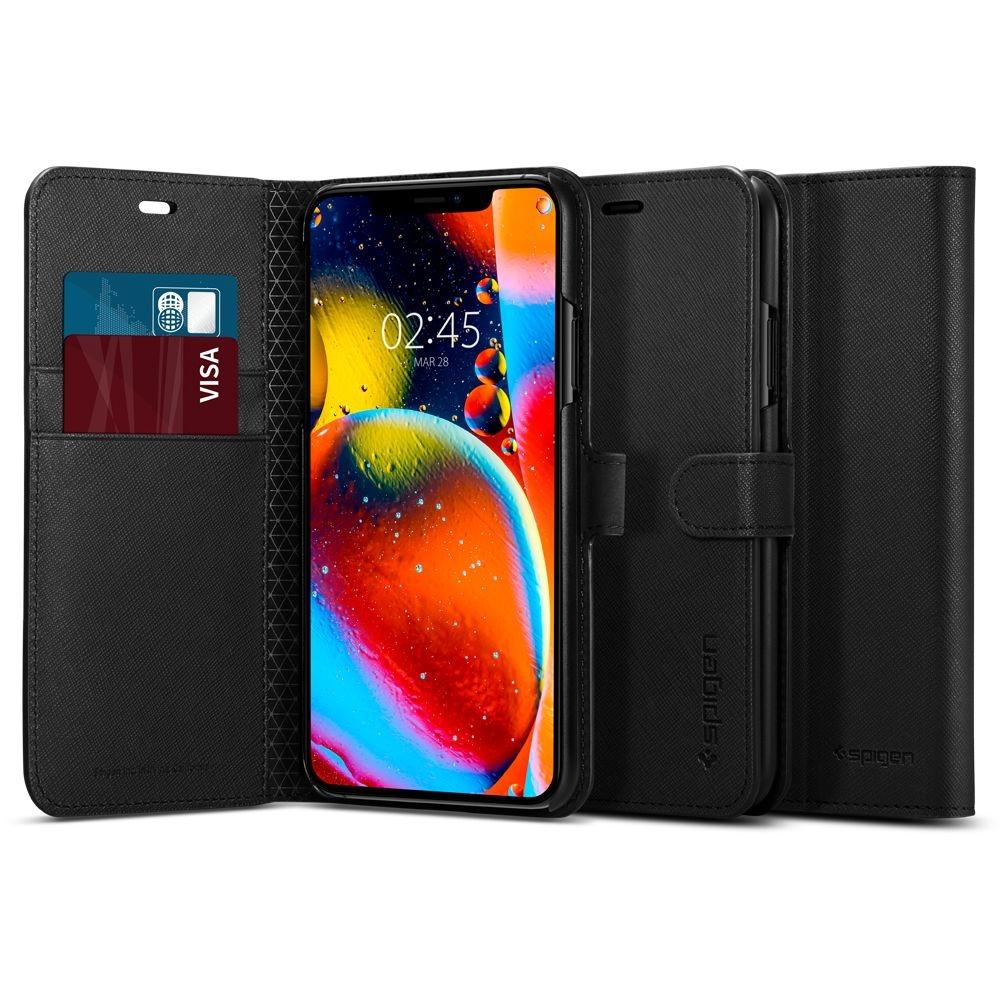 Spigen Wallet S - Θήκη-Πορτοφόλι iPhone 11 Pro Max - Black (075CS27149)