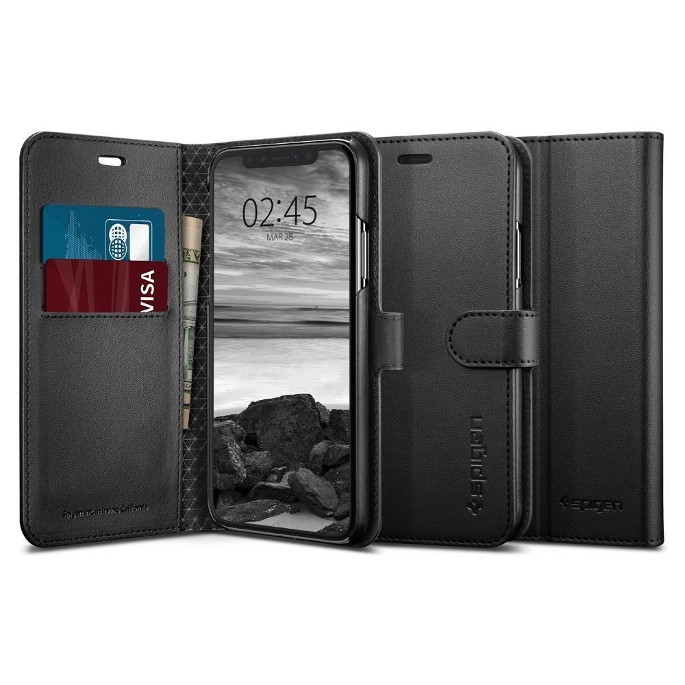 Spigen Wallet S - Θήκη-Πορτοφόλι iPhone XS Max - Black (065CS24841)