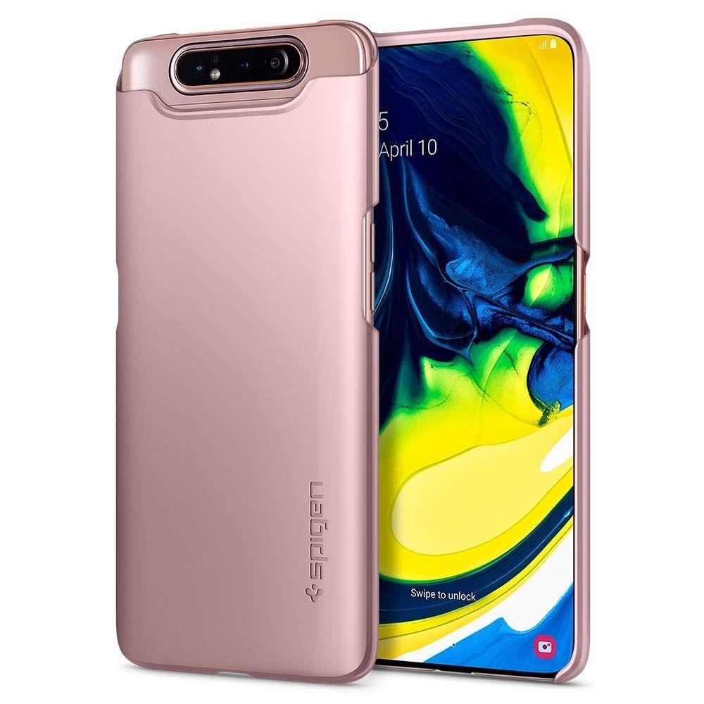 Spigen Θήκη Thin Fit Samsung Galaxy A80 - Rose Gold (621CS26418)