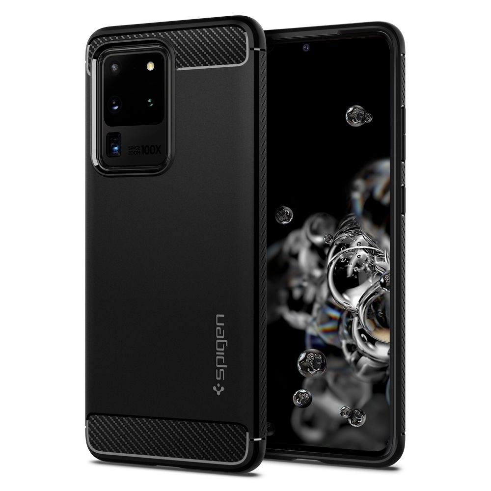 Spigen Θήκη Rugged Armor Samsung Galaxy S20 Ultra - Black Matte (ACS00711)