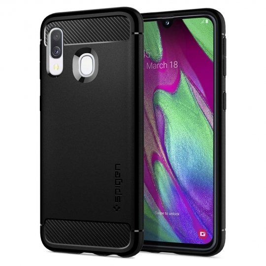 Spigen Θήκη Rugged Armor Samsung Galaxy A40 - Matte Black (618CS26244)