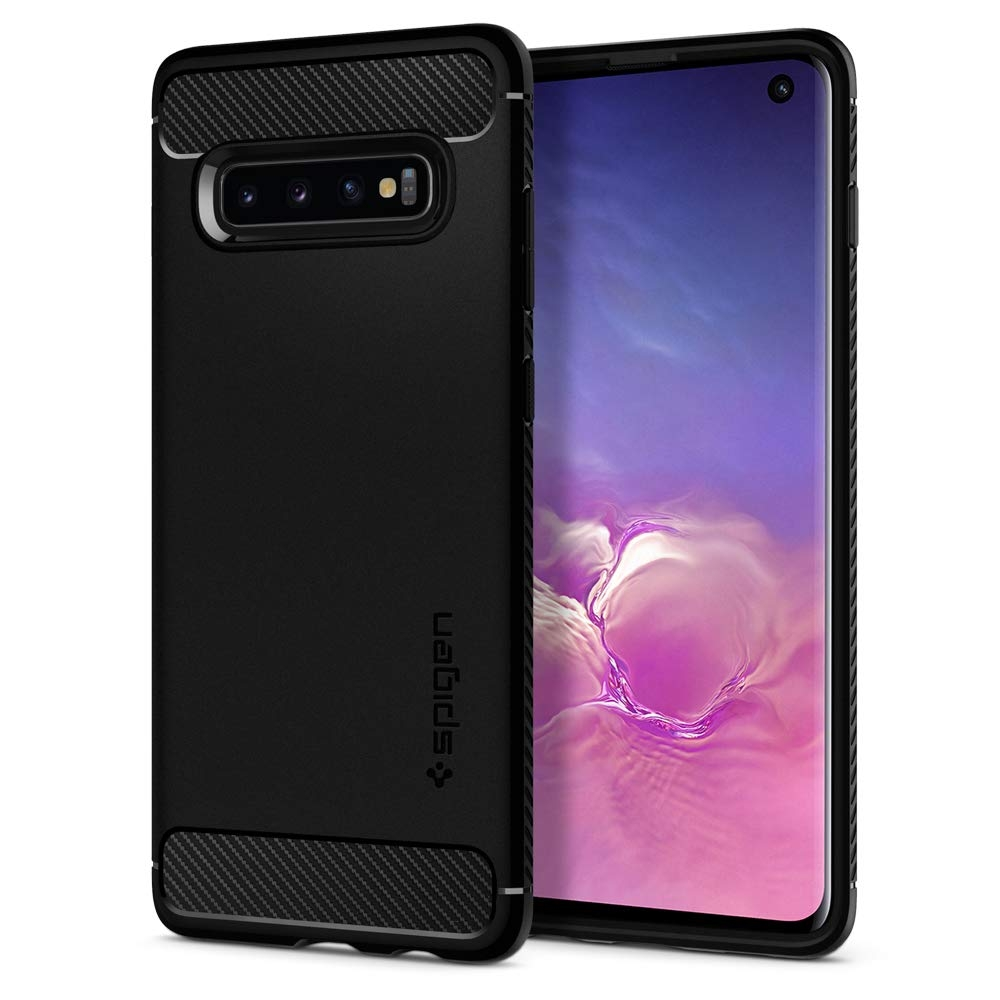 Spigen Θήκη Rugged Armor Samsung Galaxy S10 - Black (605CS25800)