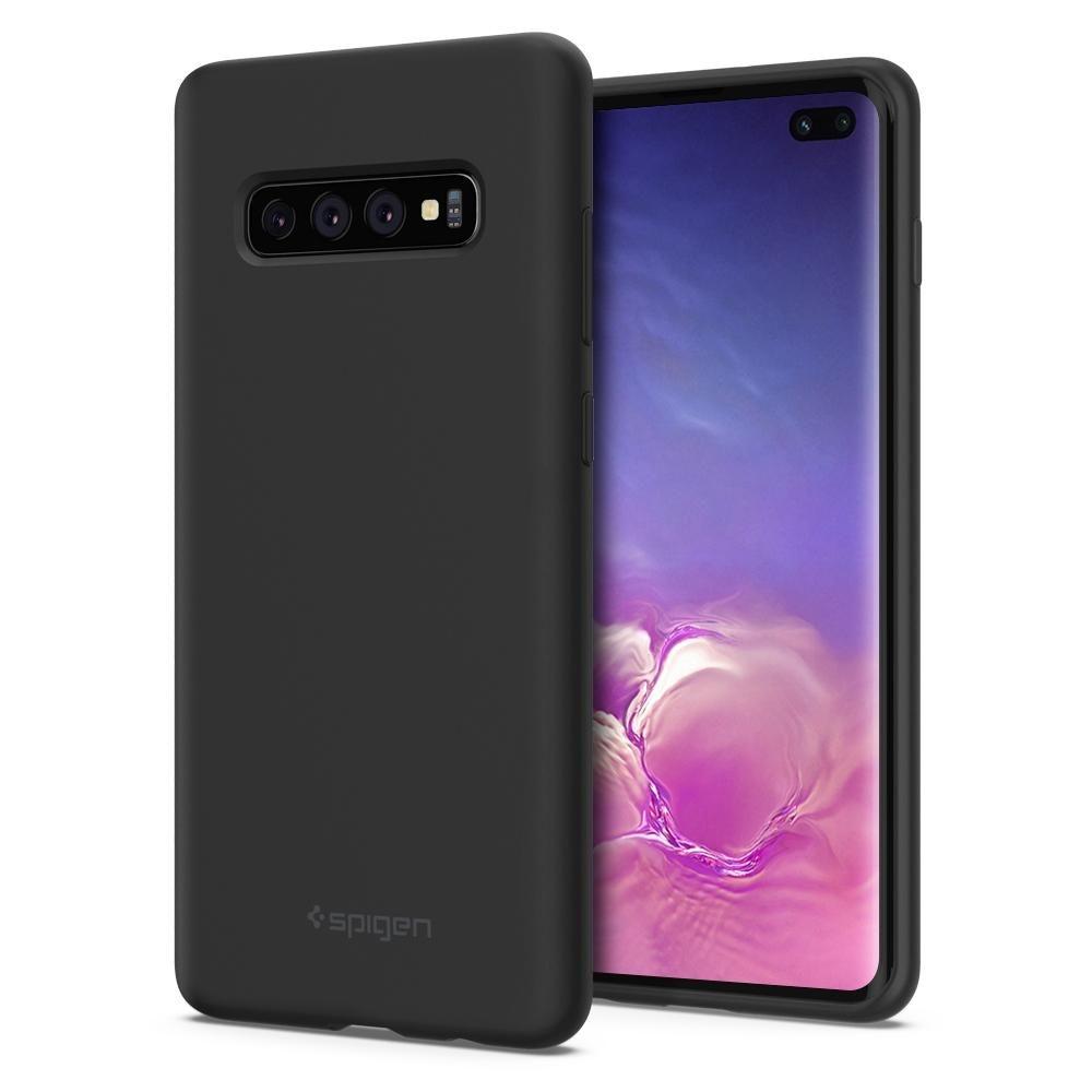 Spigen Silicone Fit - Θήκη Samsung Galaxy S10 Plus - Black (606CS25783)
