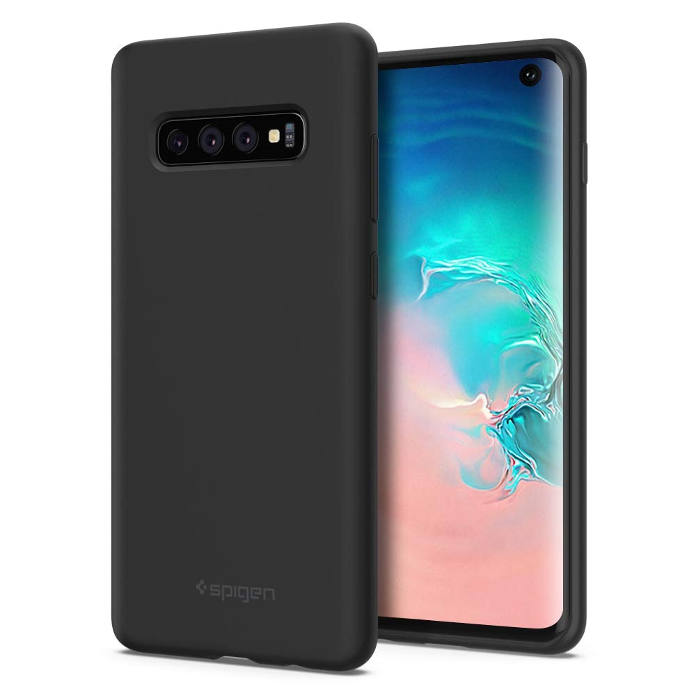 Spigen Silicone Fit - Θήκη Samsung Galaxy S10 - Black (605CS25818)