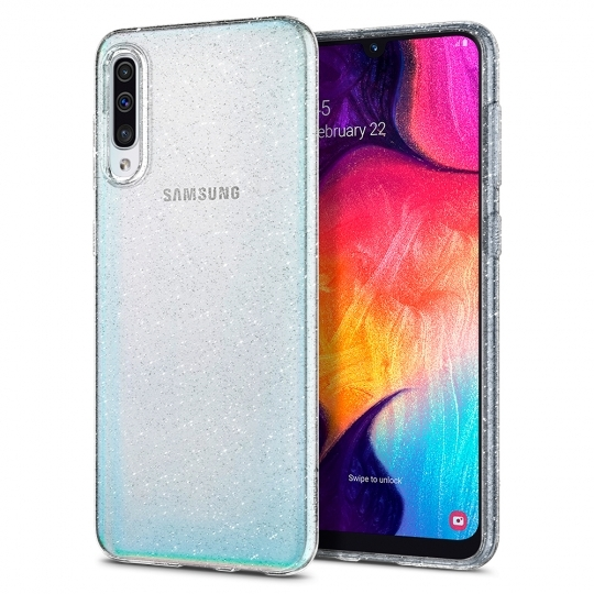 Spigen Θήκη TPU Liquid Crystal Samsung Galaxy A50 - Crystal Glitter (611CS26441)