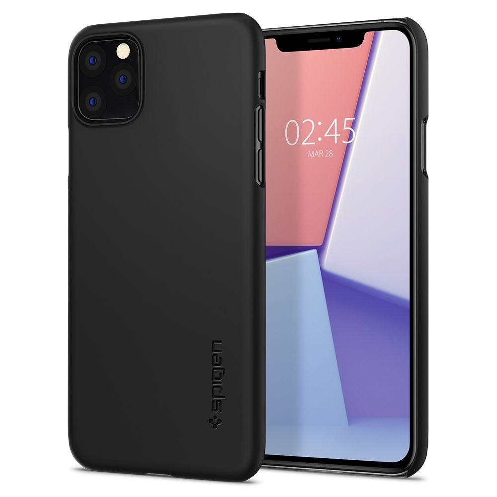 Spigen Θήκη Thin Fit iPhone 11 Pro - Black (077CS27225)
