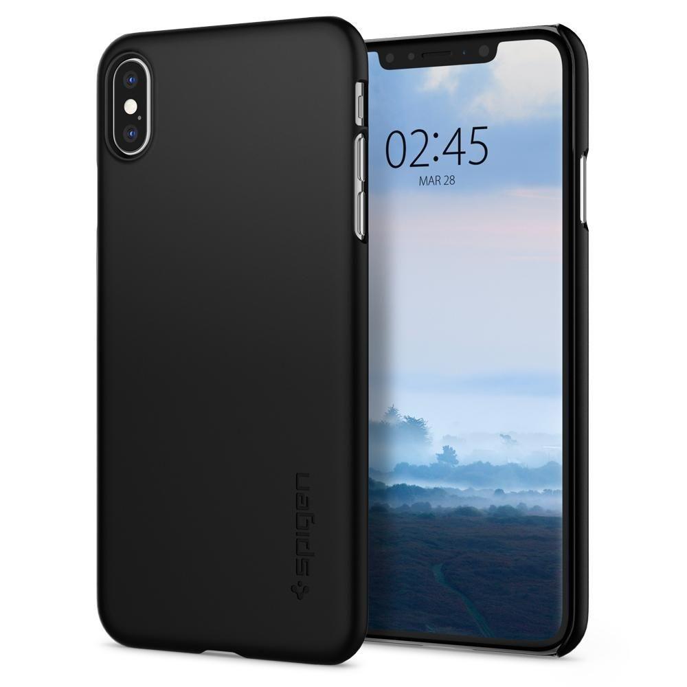 Spigen Θήκη Thin Fit iPhone XS Max - Matte Black (065CS24824)