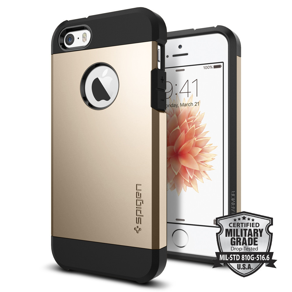 Spigen Θήκη Tough Armor iPhone 5/5S/SE - Gold (041CS20252)