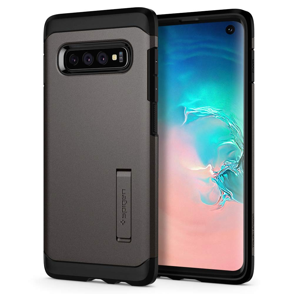 Spigen Θήκη Tough Armor Samsung Galaxy S10 - Gunmetal (605CS25804)