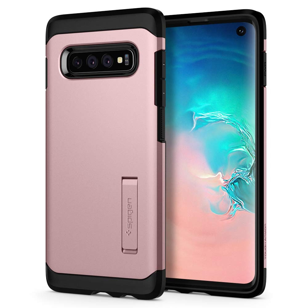 Spigen Θήκη Tough Armor Samsung Galaxy S10 - Rose Gold (605CS25807)