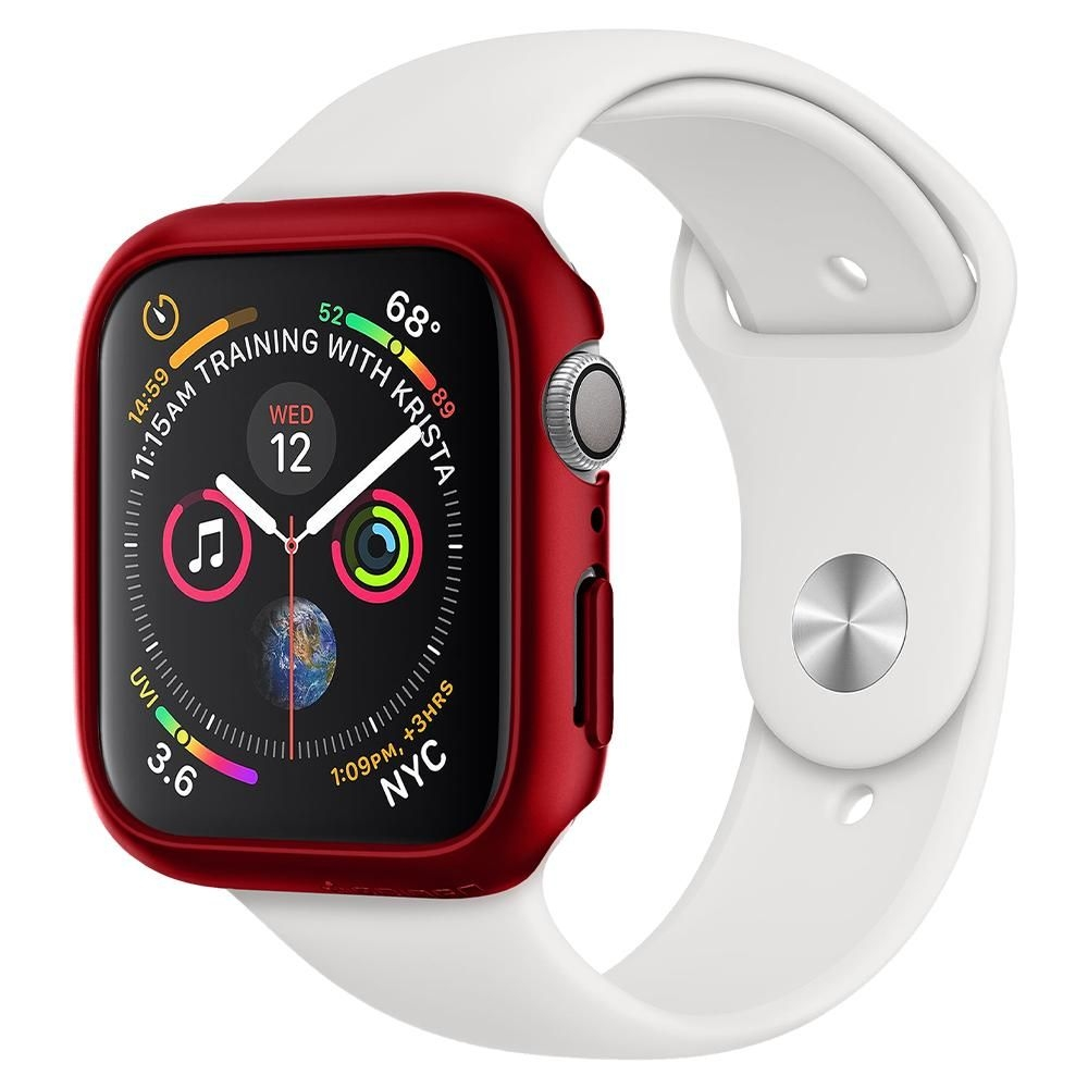 Spigen Θήκη Thin Fit  Apple Watch 5/4 (40mm) - Red (ACS01067)