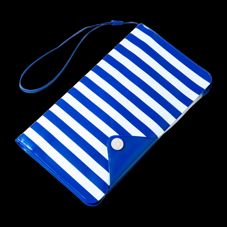Celly Universal Αδιάβροχη Θήκη Splashproof Wallet για Smartphones έως 5.7'' - IPX4 - Blue (SPLASHWALLETBL)