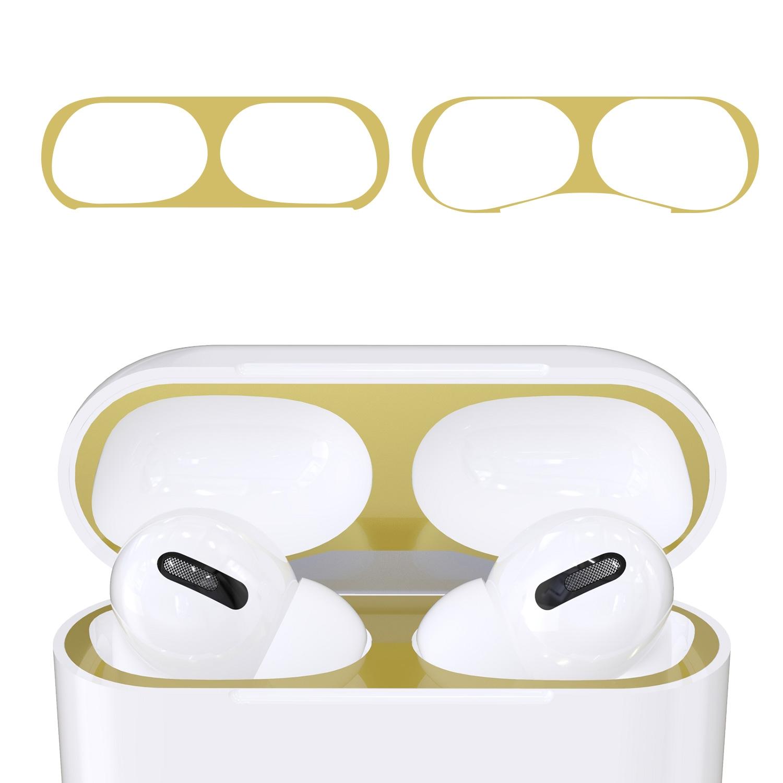 KW Αυτοκόλλητο Sticker για θήκη Apple AirPods Pro - Gold - 2 Τεμάχια (50975.21)