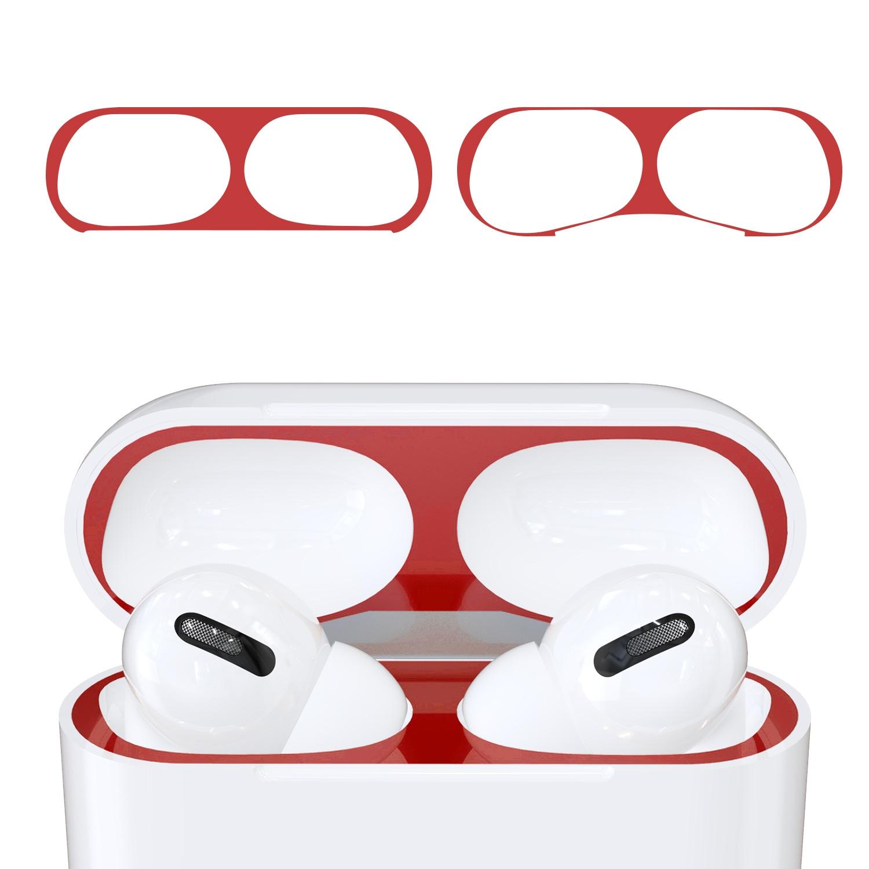 KW Αυτοκόλλητο Sticker για θήκη Apple AirPods Pro - Red - 2 Τεμάχια (50975.09)