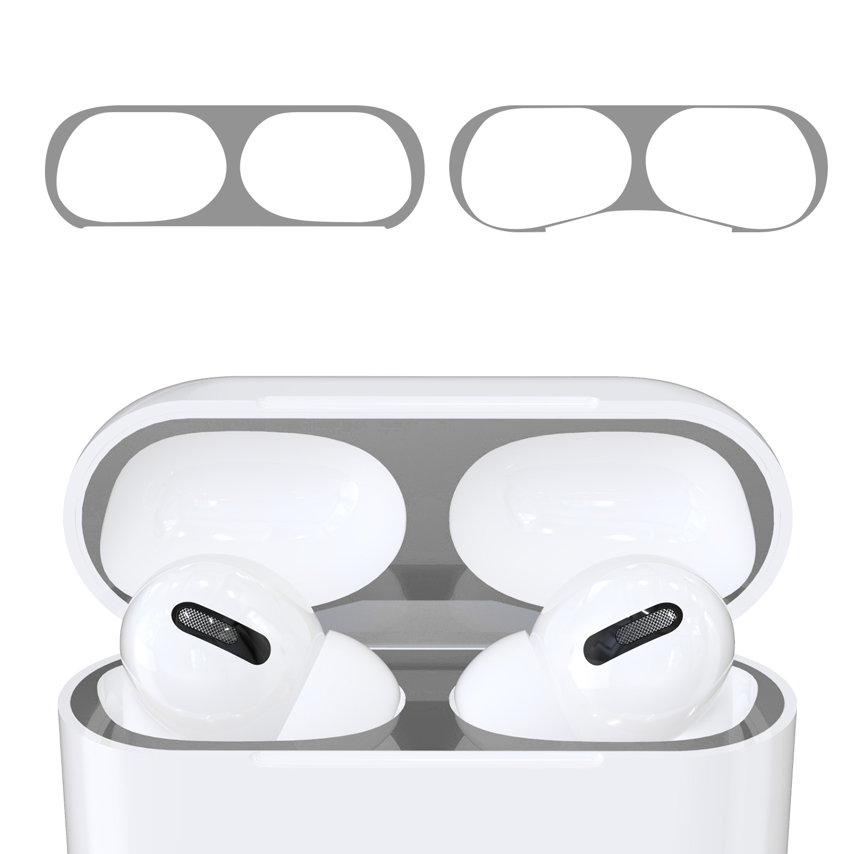 KW Αυτοκόλλητο Sticker για θήκη Apple AirPods Pro - Silver - 2 Τεμάχια (50975.35)