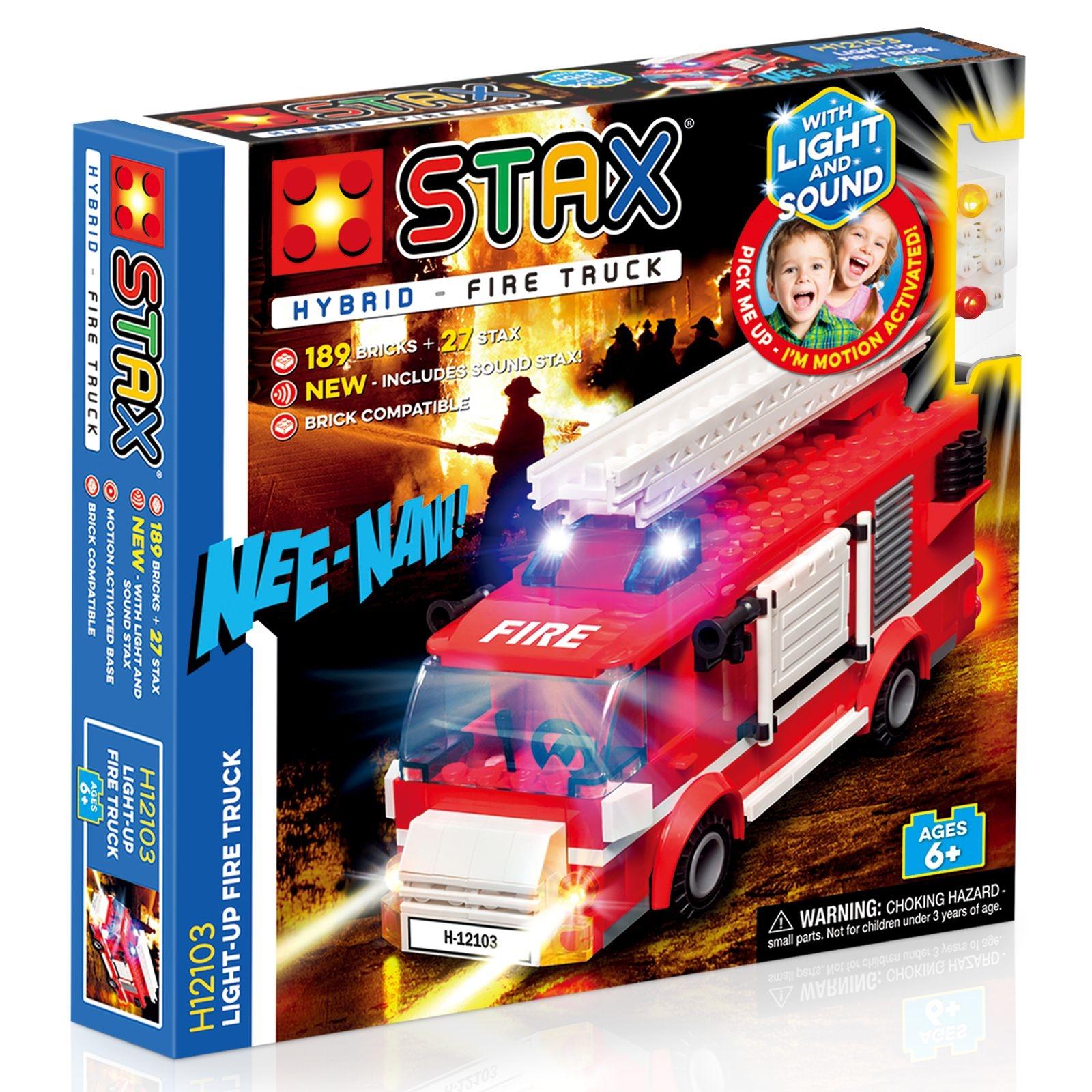 STAX Hybrid Fire Truck - Παιχνίδι-Πυροσβεστικό Με Φωτάκια LED (H12103)
