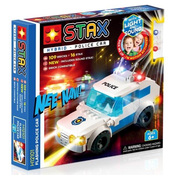 STAX Hybrid Police Car - Παιχνίδι-Περιπολικό Με Φωτάκια LED (H12101)