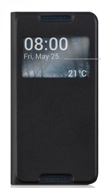 KW Smart View Θήκη HTC Desire 626 (35995-01) - Μαύρο