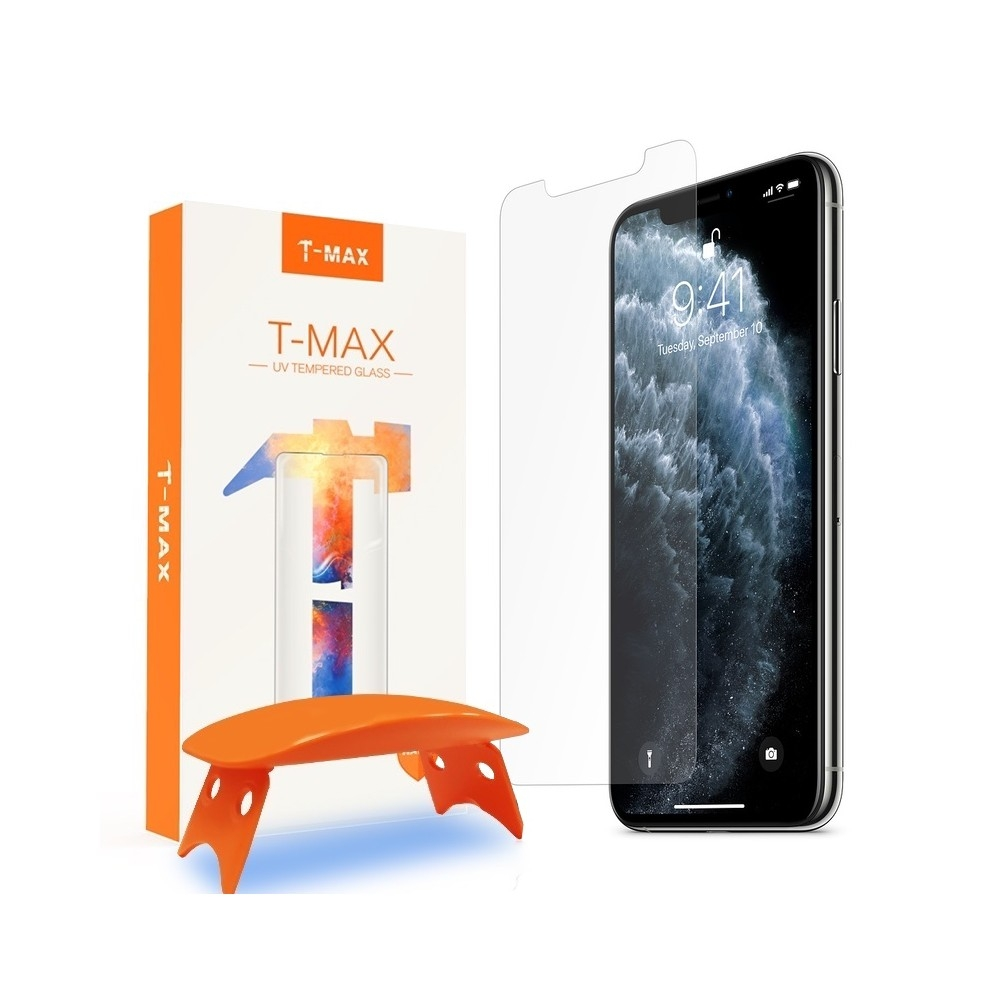 T-MAX Liquid Full Glue 3D Tempered Glass - Σύστημα Προστασίας Οθόνης iPhone 11 Pro / X / XS (61383)