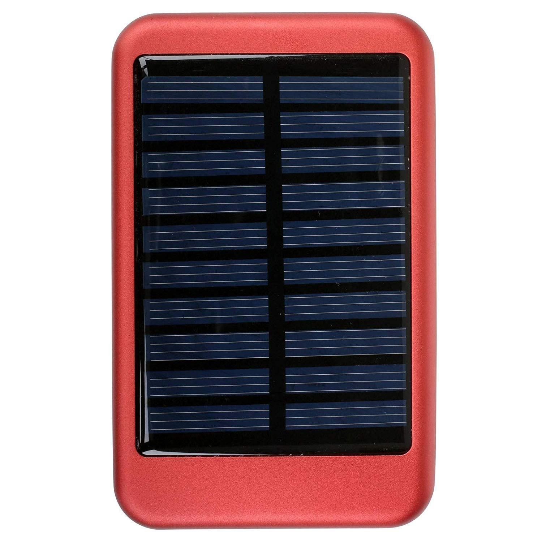 TechConnect Solar Charger - Power Bank Ηλιακός Φορτιστής 5000mAh - Red (TCPBS5R)