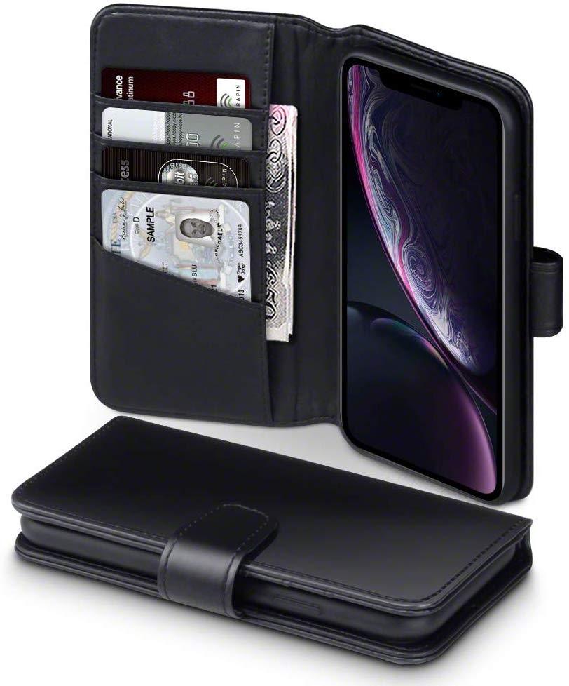 Terrapin Δερμάτινη Θήκη - Πορτοφόλι iPhone XR - Black (117-127-006)