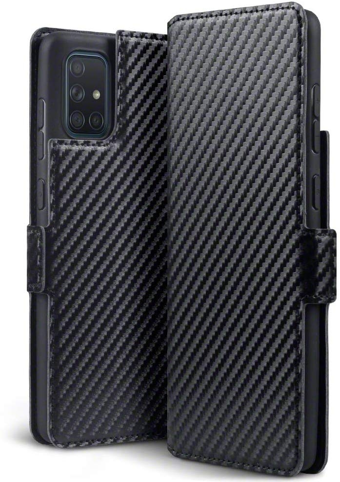 Terrapin Low Profile Θήκη - Πορτοφόλι Carbon Fibre Samsung Galaxy A71 - Black (117-002a-222)