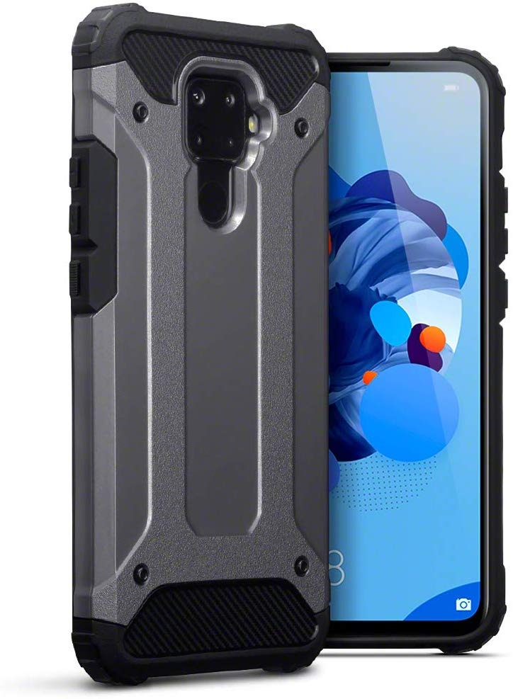 Terrapin Ανθεκτική Θήκη Double Layer Impact Huawei Mate 30 Lite - Gunmetal (131-083-117)