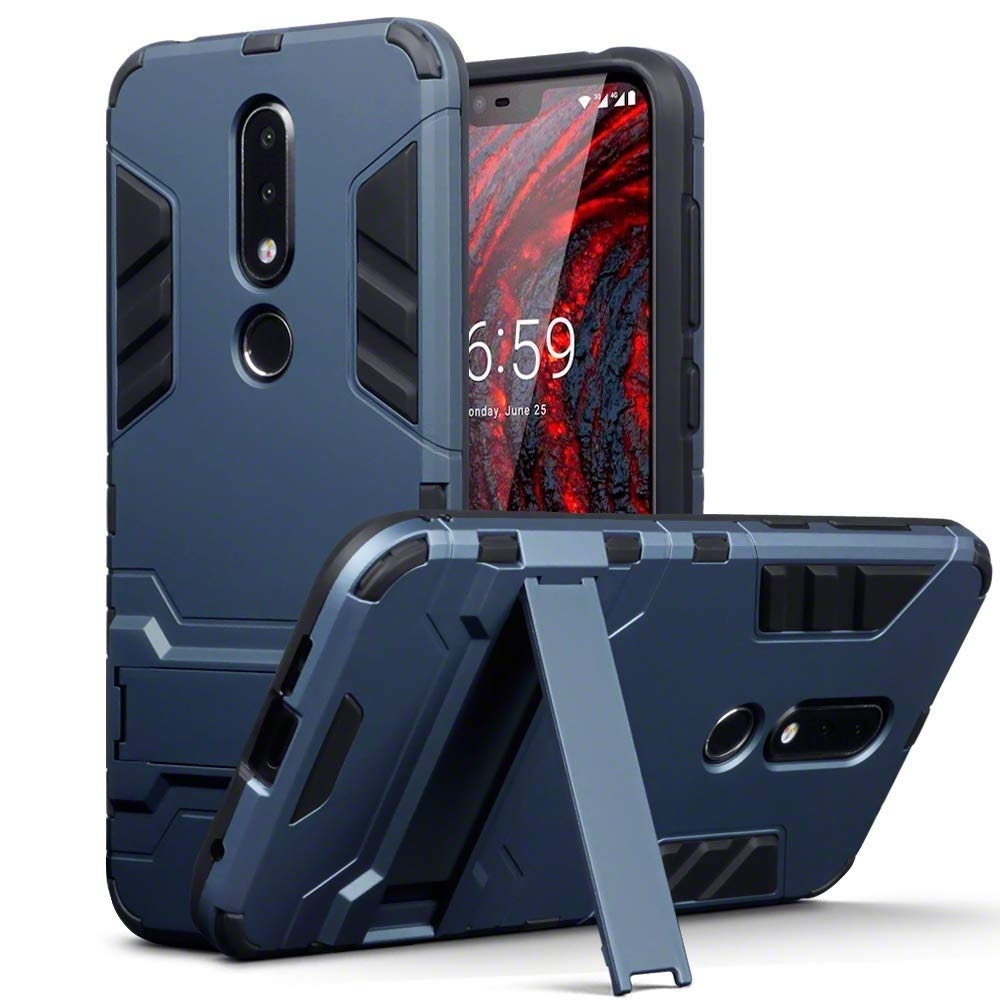 Terrapin Ανθεκτική Dual Layer Θήκη Nokia 6.1 Plus - Blue (131-001-037)