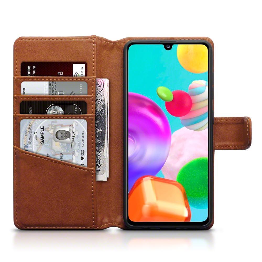 Terrapin Δερμάτινη Θήκη - Πορτοφόλι Samsung Galaxy A41 - Brown (117-002a-278)