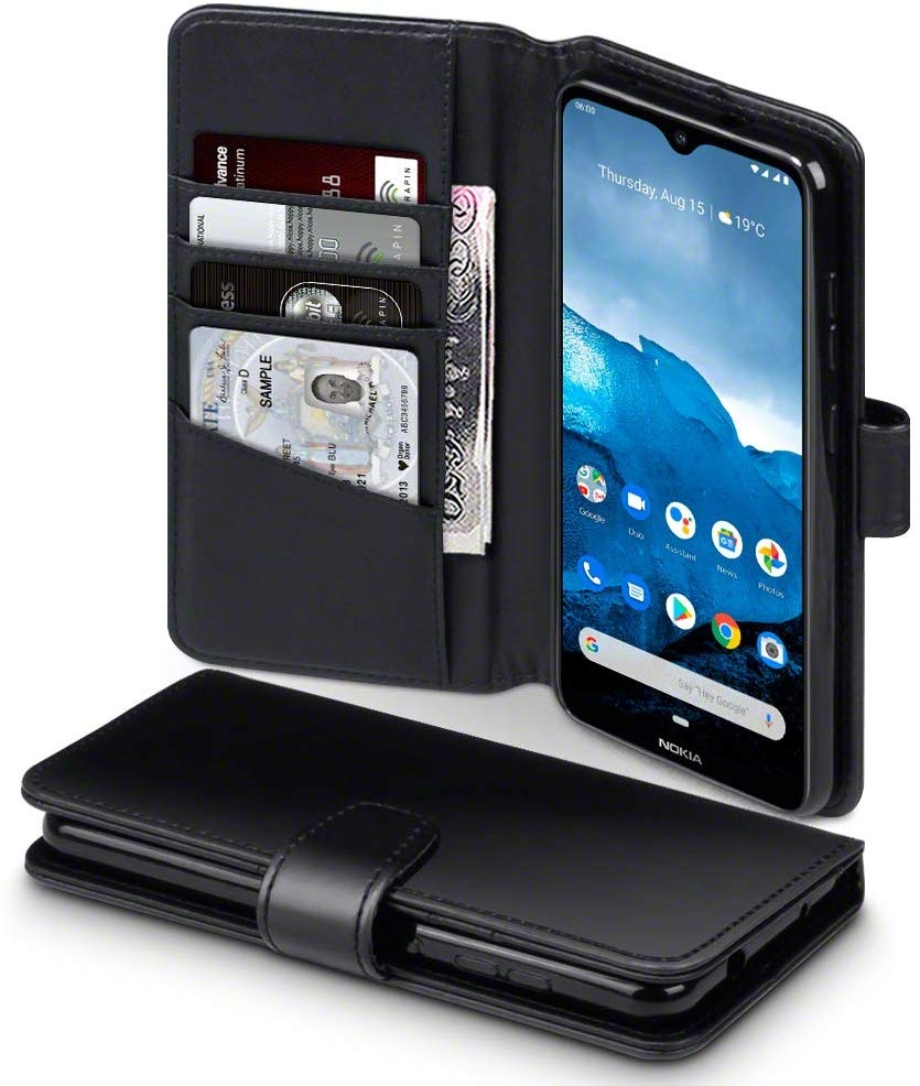 Terrapin Δερμάτινη Θήκη - Πορτοφόλι Nokia 6.2/7.2 - Black (117-001-323)
