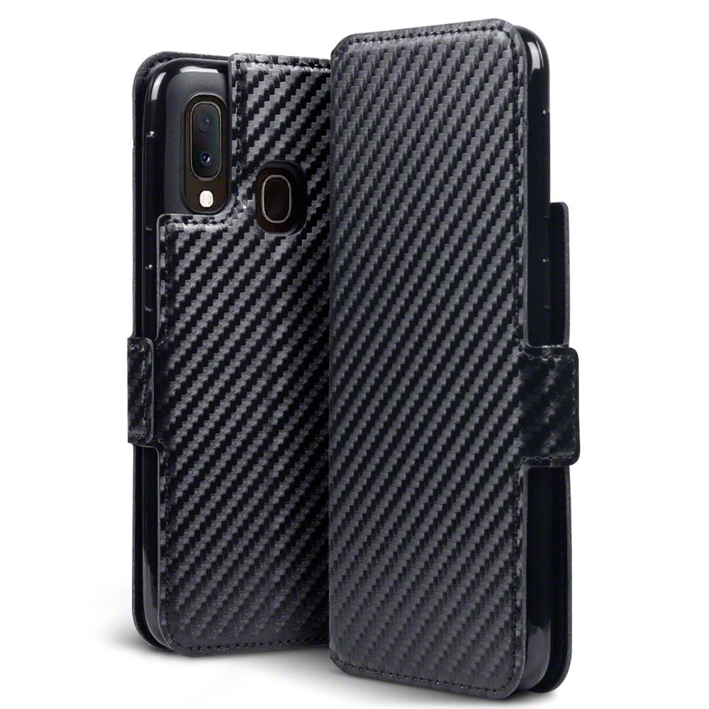 Terrapin Low Profile Θήκη - Πορτοφόλι Carbon Fibre Samsung Galaxy A20e - Black (117-002a-177)