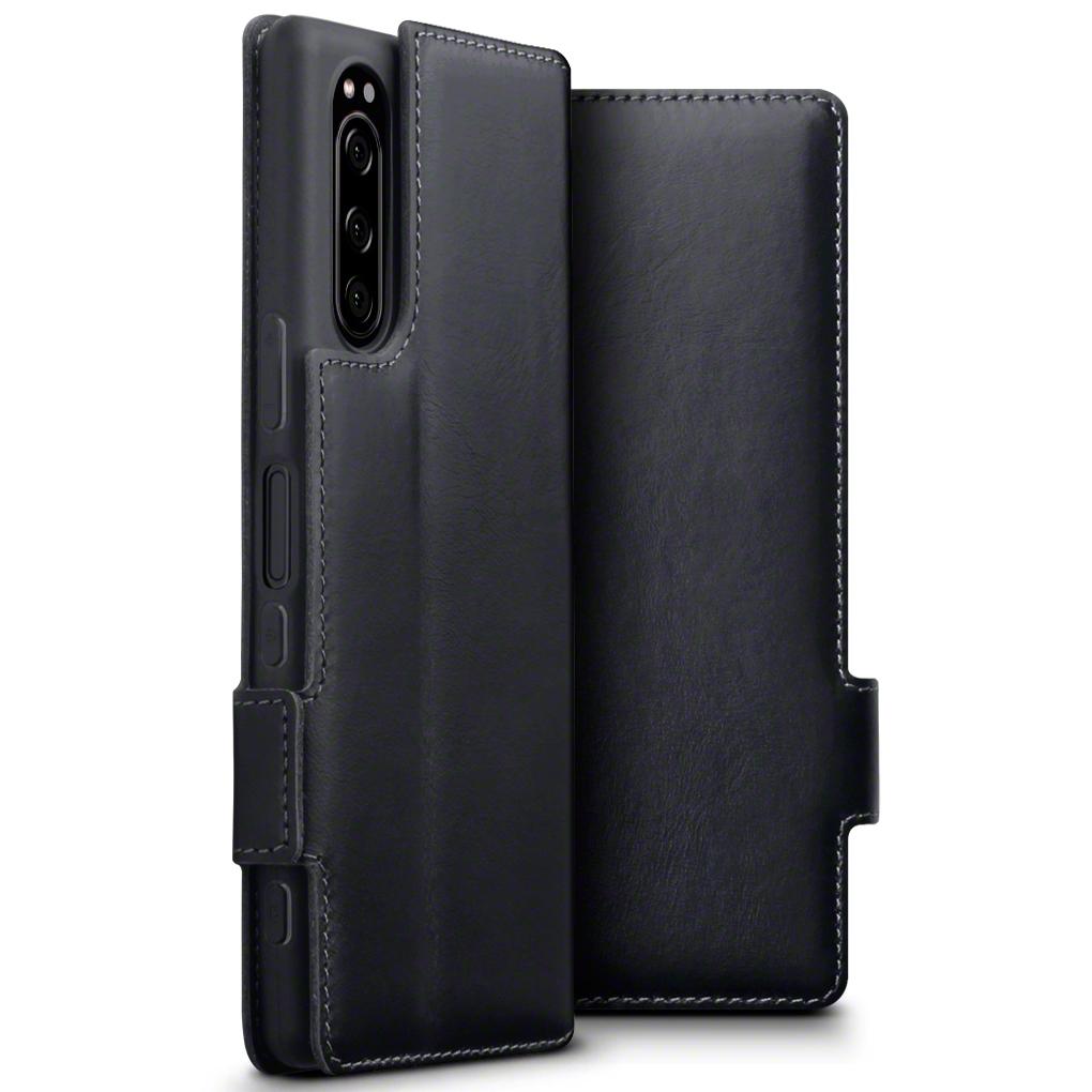 Terrapin Low Profile Δερμάτινη Θήκη - Πορτοφόλι Sony Xperia 5 - Black (117-005-667)