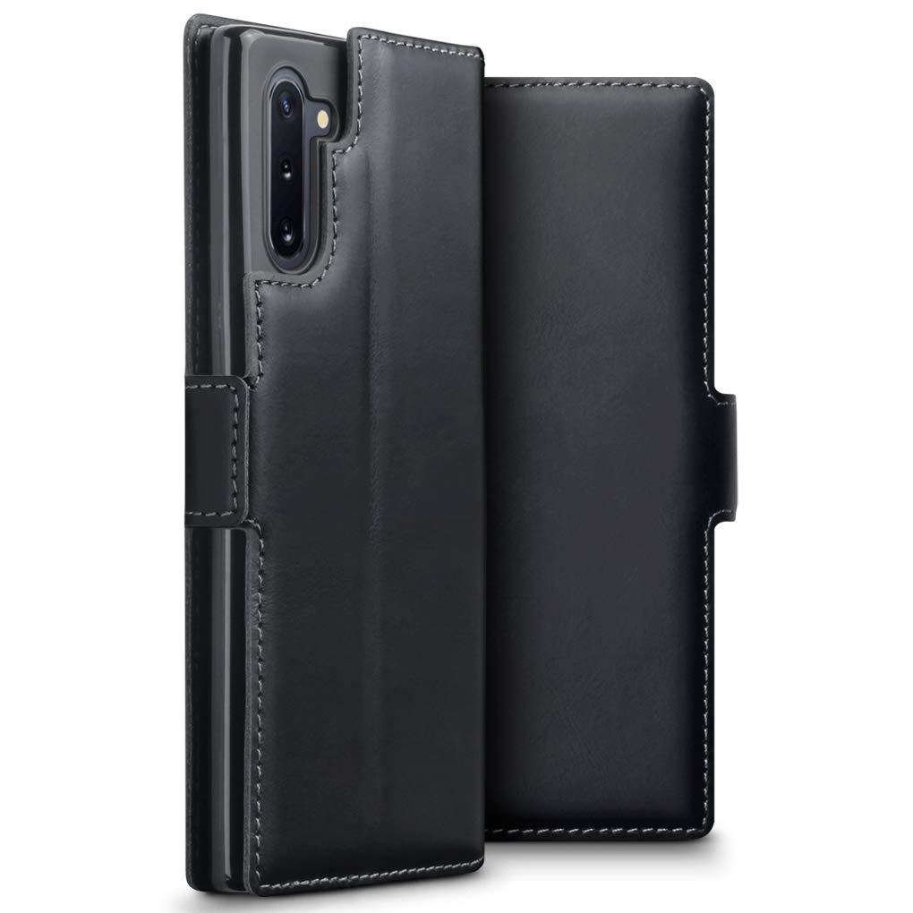Terrapin Low Profile Δερμάτινη Θήκη - Πορτοφόλι Samsung Galaxy Note 10 - Black (117-002a-178)