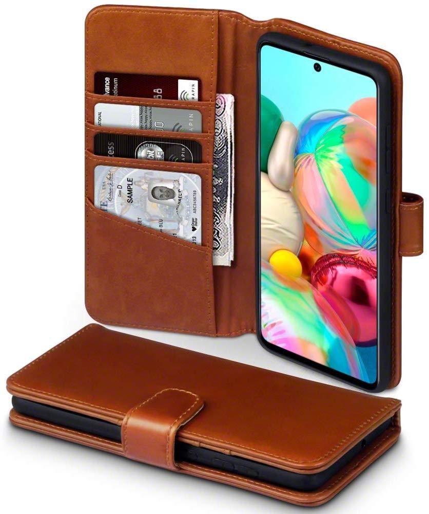 Terrapin Δερμάτινη Θήκη - Πορτοφόλι Samsung Galaxy A71 - Cognac (117-002a-214)