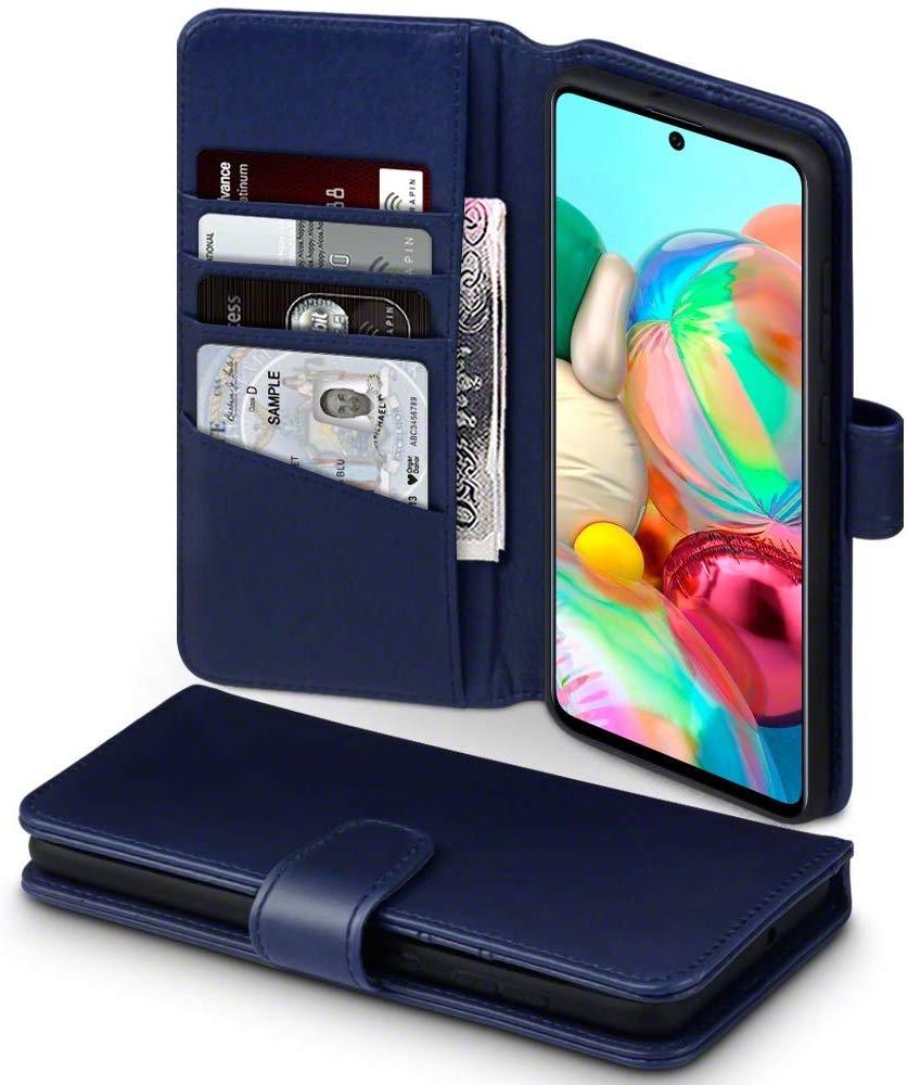 Terrapin Δερμάτινη Θήκη - Πορτοφόλι Samsung Galaxy A71 - Blue (117-002a-217)
