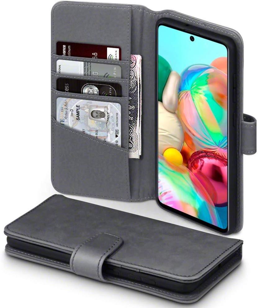 Terrapin Δερμάτινη Θήκη - Πορτοφόλι Samsung Galaxy A71 - Grey (117-002a-215)