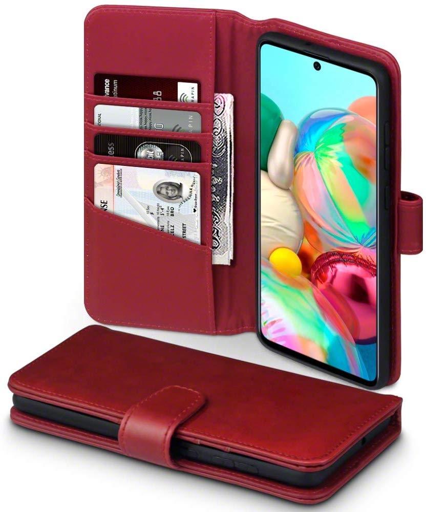 Terrapin Δερμάτινη Θήκη - Πορτοφόλι Samsung Galaxy A71 - Red (117-002a-216)