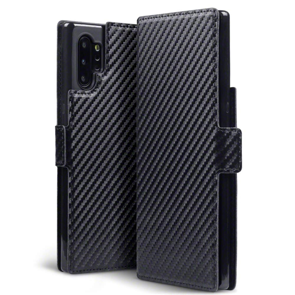 Terrapin Low Profile Θήκη - Πορτοφόλι Carbon Fibre Samsung Galaxy Note 10 Plus - Black (117-002a-185)