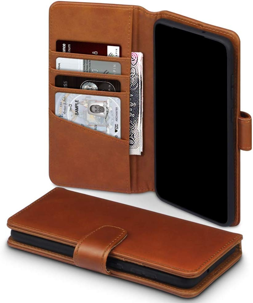Terrapin Δερμάτινη Θήκη - Πορτοφόλι Samsung Galaxy S20 Plus - Cognac (117-002a-236)
