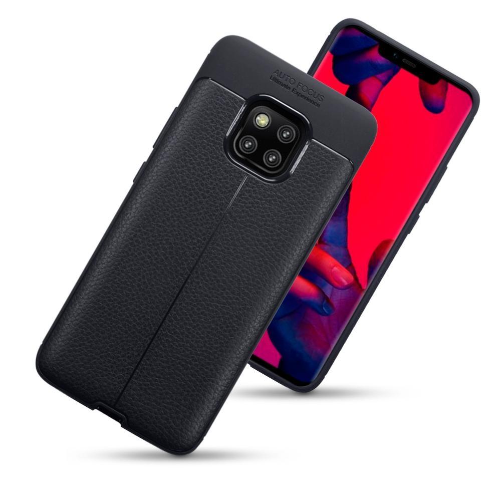 Terrapin Θήκη TPU Leather Design Huawei Mate 20 Pro - Black (118-083-191)